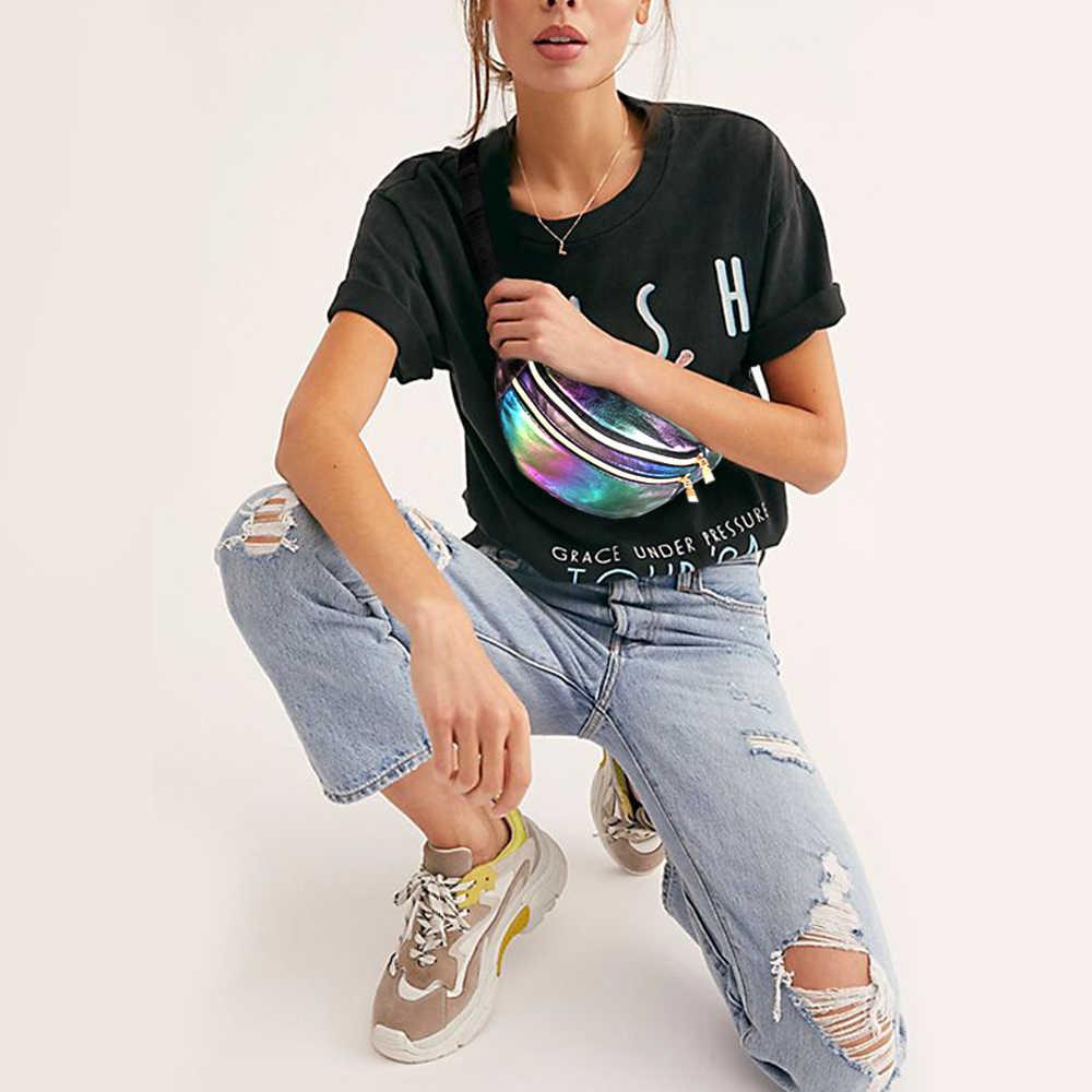 Buylor Holographic Fanny Packกระเป๋าเข็มขัดผู้หญิงDesignerเอวน่ารักBumbagแฟชั่นกระเป๋าสำหรับปาร์ตี้,ช้อปปิ้ง