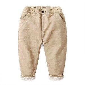 Image 5 - 2020 ילד מכנסיים ילדי סתיו חורף בגדי ילדים מוצקים מכנסיים עבור תינוק נערי מכנסיים חם פעוטות עבה צמר khaqi מוצק