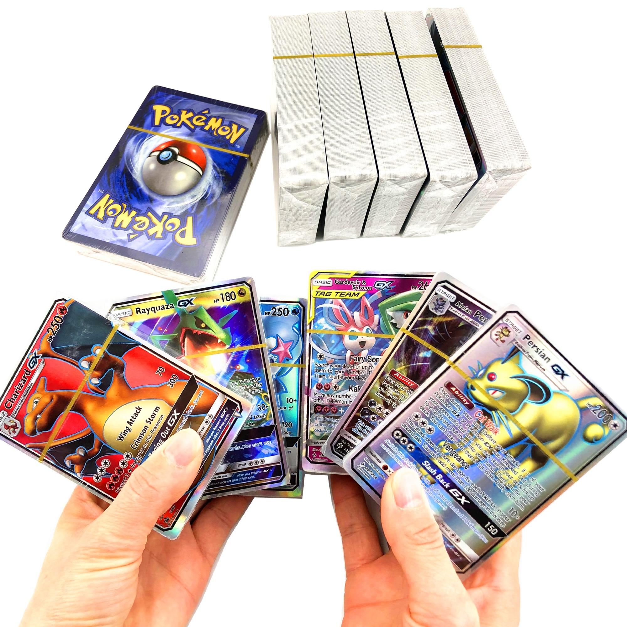 300 pces nenhuma repetição pokemones cartão gx tag equipe ex mega shinny jogo de cartas batalha carte negociação crianças brinquedo