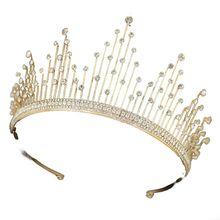 цена на Wedding Crown for Bridal Headpiece Gold  Baroque Crystal tiaras and crowns Bride tiara Wedding Hair Accessories