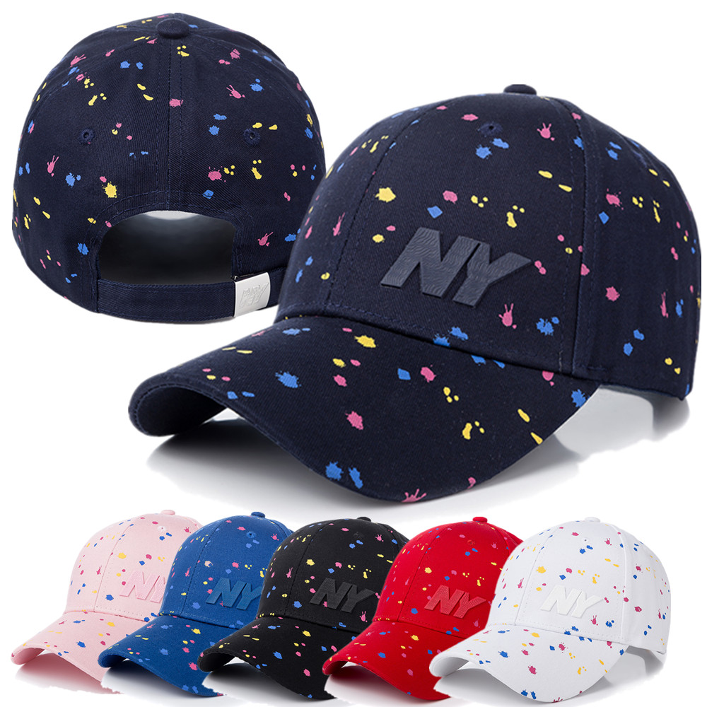 New Women Cap Fashion NY Letter Patch Baseball Cap Female Polka Dot Printing Casual Adjustable Outdoor High Quality Hat Cap image