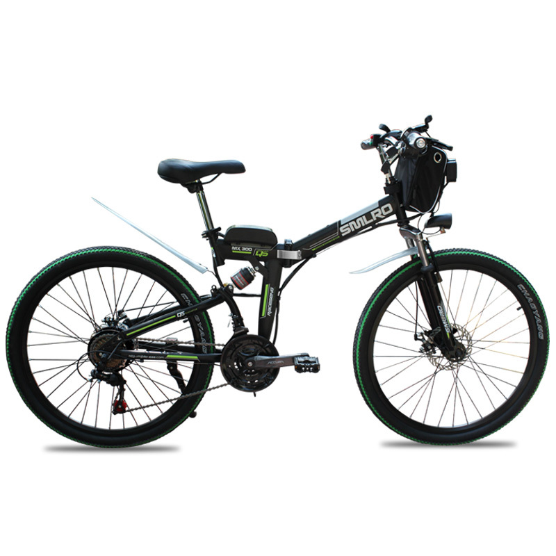 26 Inch 750W/1000W High Power Folding Mountain CityE bike with 10Ah/13Ah Lithium Battery Electric Bicycle Carbon Steel 1