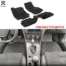Custom Car TPE  Floor Mats Foot Mat  For VW Volkswagen Golf 7 7.5 MK7 2013 2019 Specialized Auto Accessories Protection Carpet