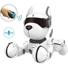 Smart Talking RC Robot Dog Walk & Dance Interactive Pet Puppy Robot Dog Remote Voice Control Intelligent Toy for Kids