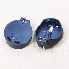 Black Coin-Cell-Battery CR2032 Socket-Case Round for 3V 5/10/20pcs