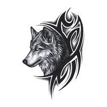 Nova transferência de água quente tatuagem falsa à prova dwaterproof água tatuagem temporária etiqueta men women wolf tatuagem flash tatuagem