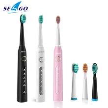 Âm Điện Con Trưởng Thành Bàn Chải Đánh Răng Seago 507 USB Thông Minh Sạc Làm Trắng Răng Lông Mềm Răng Bàn Chải Vệ Sinh Răng Miệng Sức Khỏe