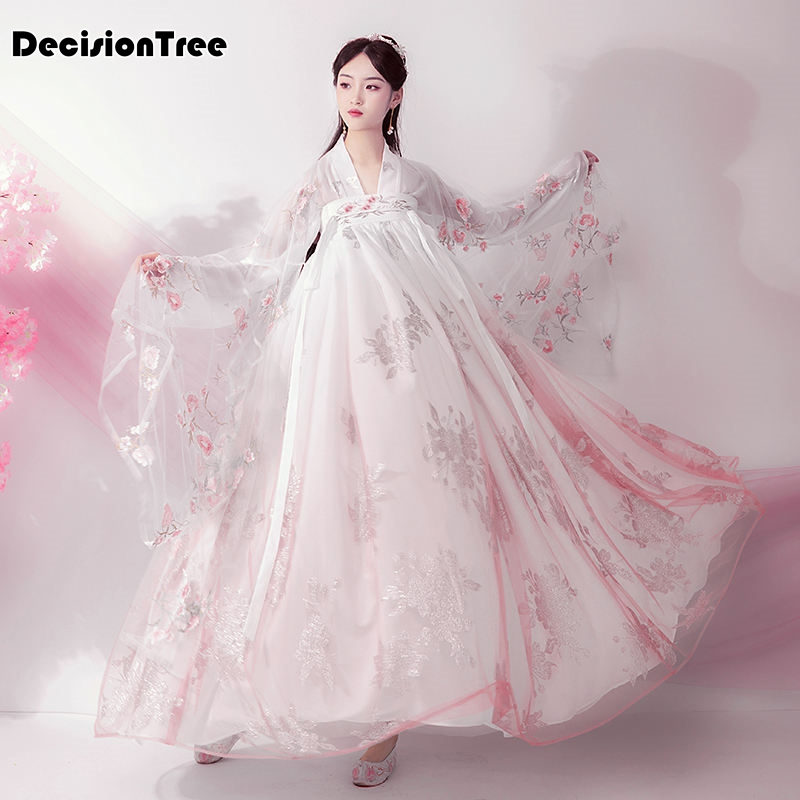 2020 Traditional Chinese Dress For Women Phoenix Party Embroidery Hanfu Cheongsam Dance Year Costumes For Girl