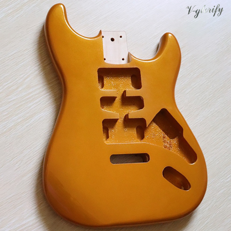 Metallic Gold And Metallic Silver Color Metal Champagne Color ST Electric Guitar Body