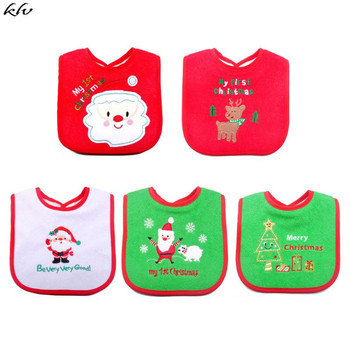 Baby Bib Christmas Tree Santa Claus Elk Bandana Bibs Baby Babador Feeding Accessory Reusable Saliva Towel Soft Baby Stuff cotton bandana bibs baby babador feeding smock infant burp cloths cartoon saliva towel baby eating accessory soft baby stuff