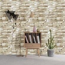 Stein Schälen Und Stick Tapete Faux Ziegel Vinyl Selbst-adhesive 3D Tapete Für Schlafzimmer Wohnzimmer Wände Hause Dekoration aufkleber