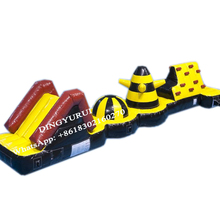 Inflatable Obstacle Course Water Fun Sport Competition Game with Slide