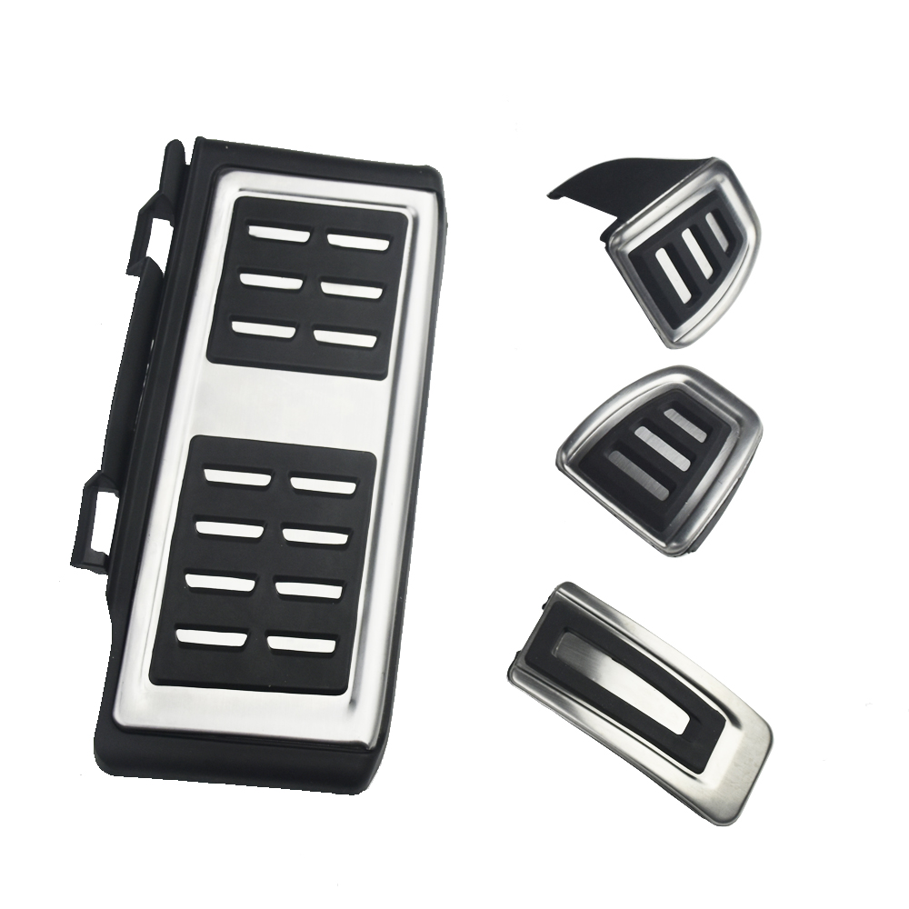 Stainless Steel Pedal Cover For <font><b>VW</b></font> <font><b>GOLF</b></font> <font><b>7</b></font> <font><b>GTi</b></font> MK7 Lamando POLO A05 Passat B8 Skoda Rapid Octavia 5E 5F A7 2014+ image