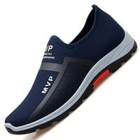Zapatos de malla de para hombre, zapatilla ligeras de malla casuales estilo mocasines, transpirables sin cordones
