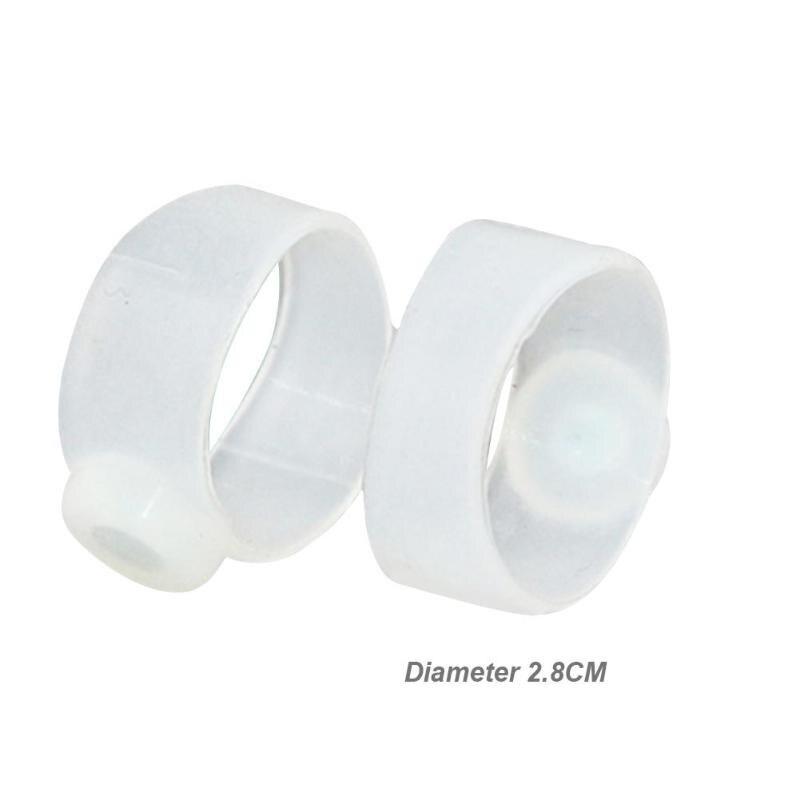1 пара магнитное кольцо пластмассы и магниты Практичный Прочный корректор похудения сжигатель жира силиконовый массажер для ног - Цвет: A