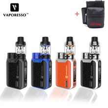 Original Vaporesso SWAG Kit Vape Electronic Cigarette With 3.5ml NRG SE Mini Tank GT2 coil E-Cig 80W 18650 Mod цена