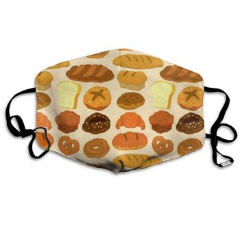 Face Mask Chocolate Bread Customized Cycling Half Earloop Mouth For Woman