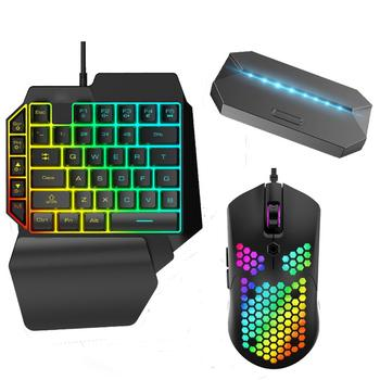 Wireless USB Mobile Gamepad Controller Gaming Keyboard Mouse Set Converter For Android iOS Phone to PC Adapter With RGB light