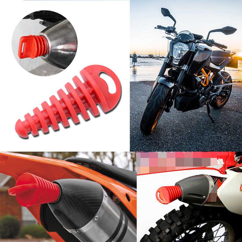 新しいオートバイ排気管15-38ミリメートルモトクロステールパイプpvc空気ブリーダプラグエキゾーストサイレンサーマフラー洗浄プラグパイププロテクター