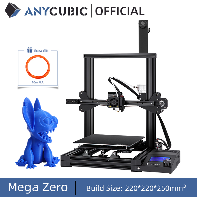 ANYCUBIC 3D Printer Mega Zero Impresora 3D DIY Kit Full Metal Large Printing Size Touch Screen LCD Filament SD Card 3d Drucker anycubic 3d printer 3d printerimpresora 3d - AliExpress