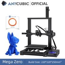 طابعة ANYCUBIC ثلاثية الأبعاد ميجا صفر Impresora ثلاثية الأبعاد لتقوم بها بنفسك عدة معدنية كاملة مطبوعة كبيرة الحجم شاشة تعمل باللمس LCD خيوط بطاقة SD ثلاثية الأبعاد Drucker