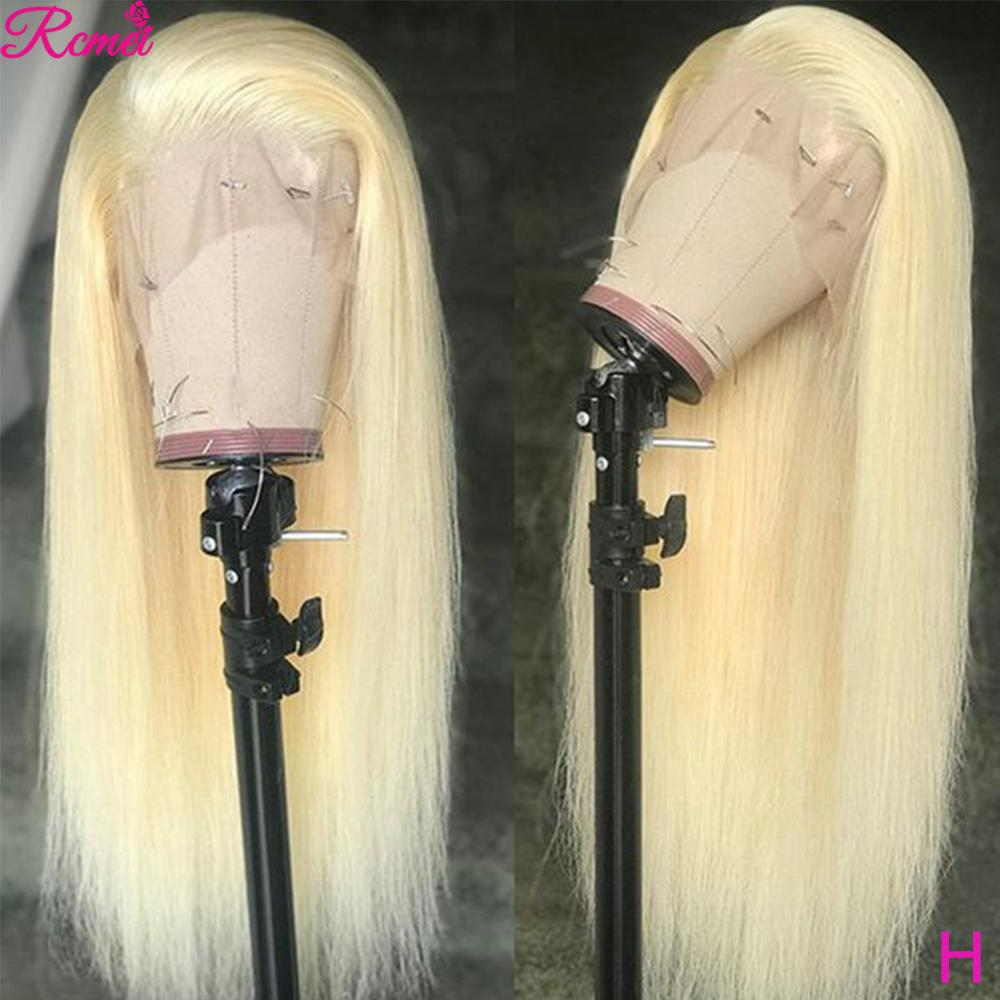13x6 Glueless 613 Honey Blonde Lace Front Wig 34 36 Inch Brazilian Straight Lace Front Human Hair Wigs Pre Plucked Remy Wig 150%