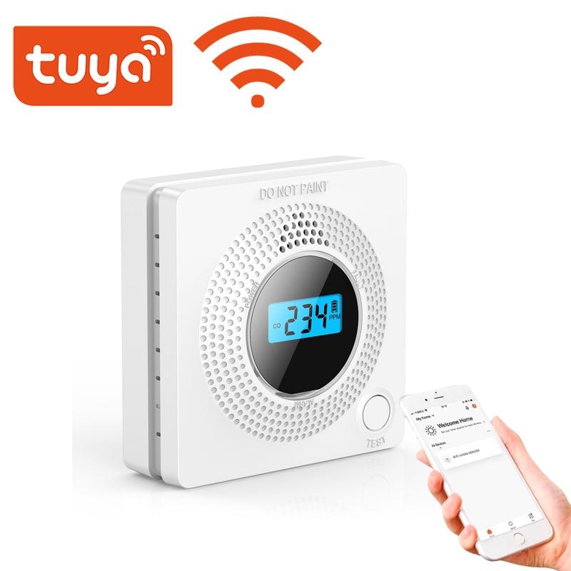 Tuya Wifi Carbon monoxide Detector CO gas Sensor with LCD Display 85dB Alarm Sound Home Security protection equipment Smart LIfe