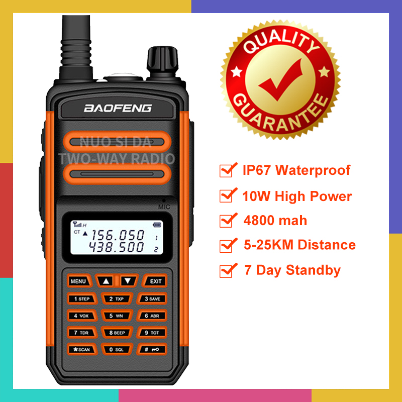 2020 New BaoFeng S5 Plus Two Way Radio 10W 25km VHF UHF Portable Ham CB Radio Baofeng Ip67 Waterproof  Long Range Walkie Talkie