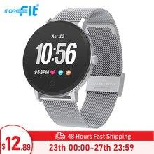 MoreFit V11 akıllı saat erkekler kadınlar akıllı aktivite spor izci IP67 su geçirmez nabız monitörü Smartwatch VS COLMI V11