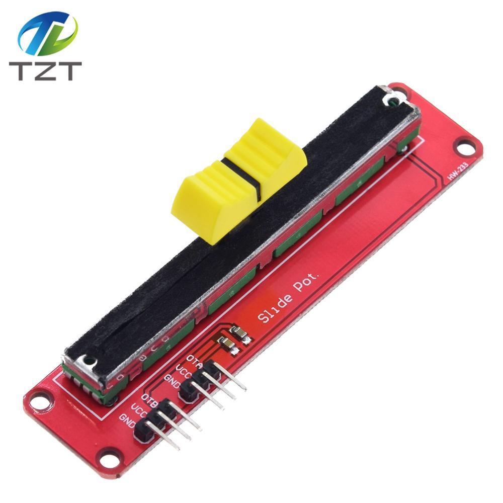 Dual Output 10K Linear Module AVR Electronic Block Slide Potentiometer