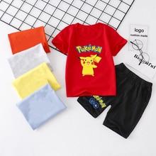 Toddler Boy Clothes Summer Children Kids Baby Boys Pokemon P