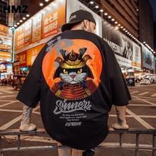 HMZ Cartoon T Shirt Printed Tshirt Men Short Sleeve Hip Hop Tee Plus Size Clothing Summer Streetwear Couple t shirts Oversized