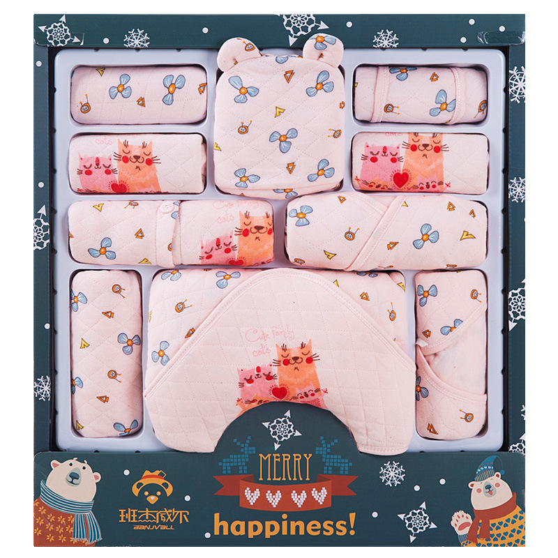 Pure Cotton Newborns Clothes Infant BABY'S FIRST Month Gift Set Autumn And Winter Thick Newborn Baby Gift Supplies