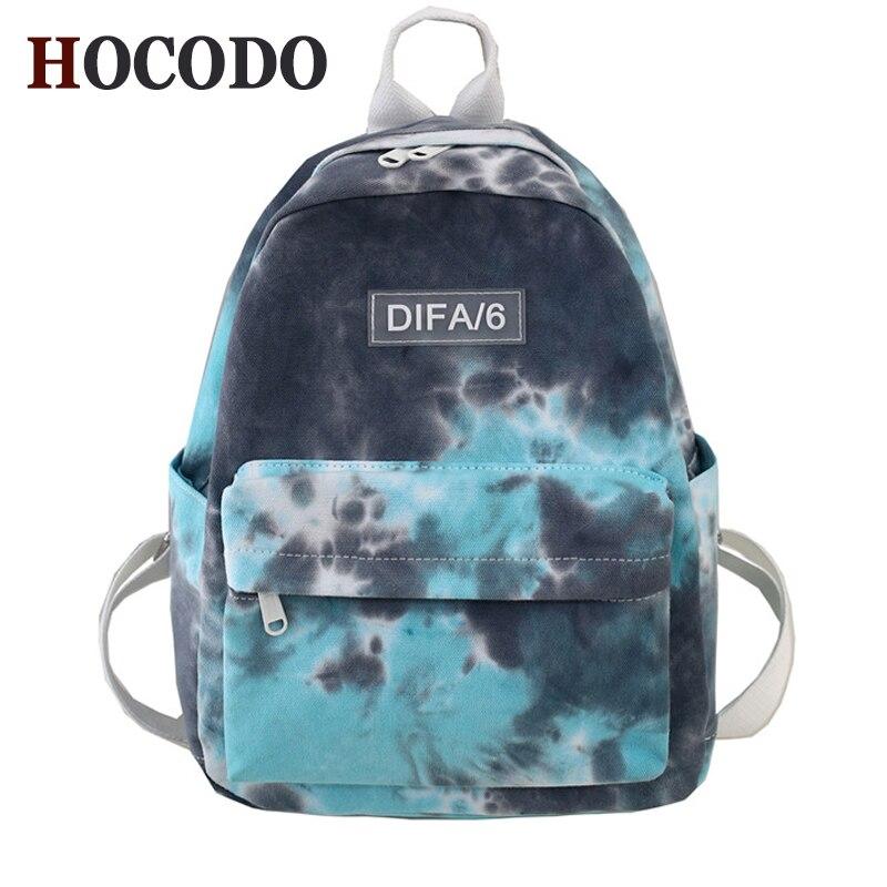 HOCODO Fashion Backpack Women Rucksack Camouflage Schoolbag For Teenage Girls Canvas Travel Backpack School Bag Mochila Femenina