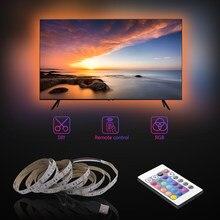 Usb led strip 2835 rgb flexível led luz 1m 2m 3m 4m 5m dc5v rgb cor branca quente mutável tv iluminação de fundo