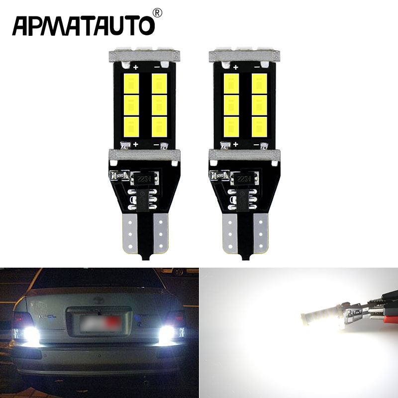 2pcs <font><b>T15</b></font> <font><b>led</b></font> <font><b>Canbus</b></font> 921 W16W <font><b>LED</b></font> Bulb Car Backup Reverse Lights for Toyota C-HR Corolla Rav4 Yaris Avensis Camry CHR Auris Hilux image