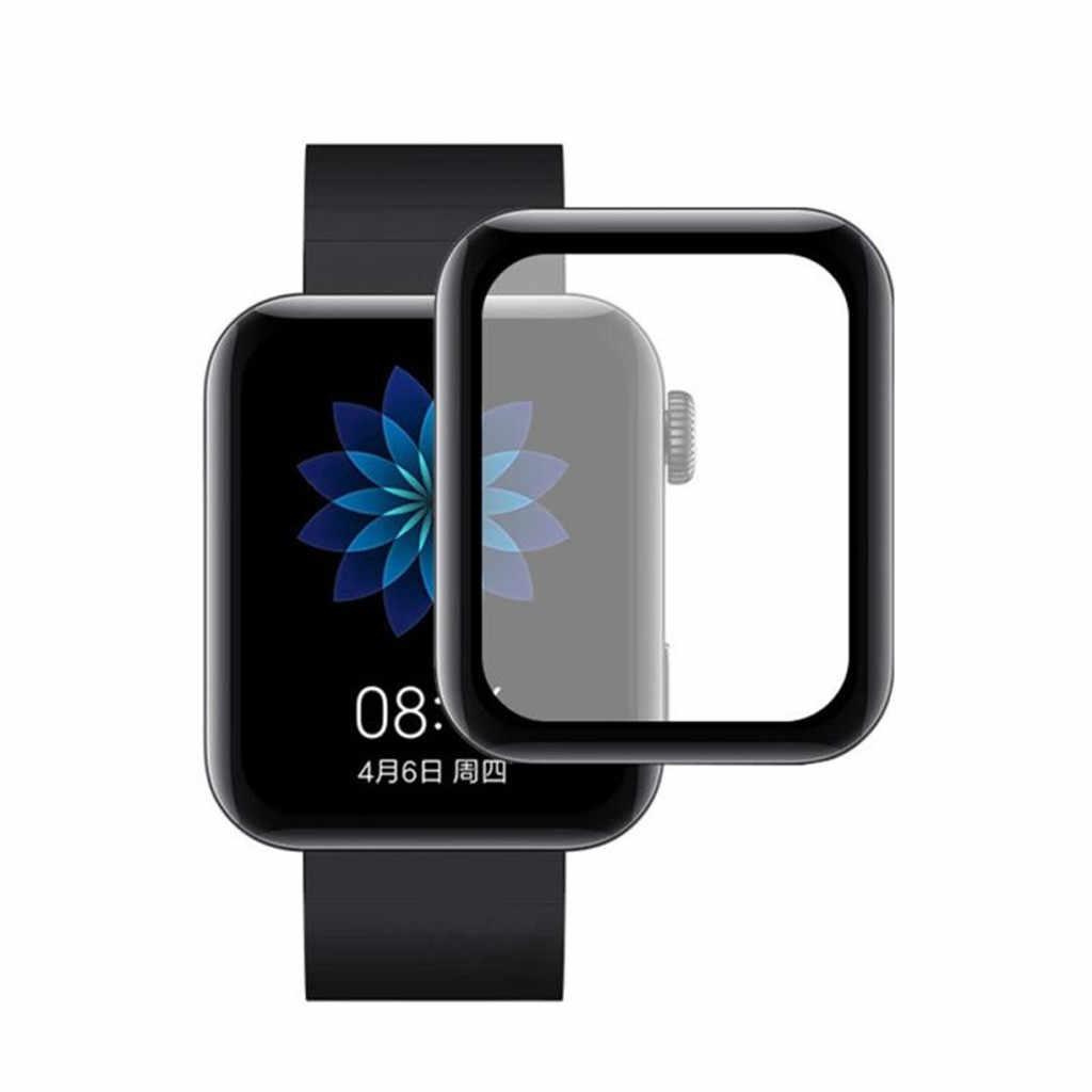 2PCS ป้องกันการระเบิดฟิล์ม Xiaomi Xiaomi สมาร์ทนาฬิกาหน้าจอพื้นผิวโค้งครอบคลุมเต็มรูปแบบ Bubble ฟรี -Scratch