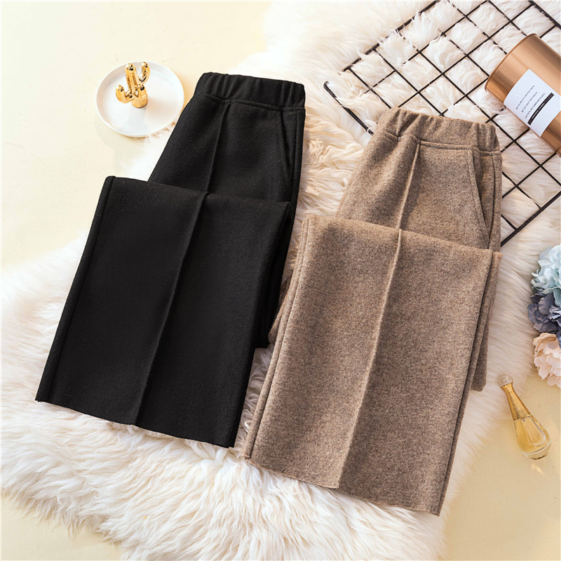 4xl Plus Big Size Panty Women Spring Winter Autumn 2020 Feminina Cloth Wide-legged Thickening Straight Female Trousers A5333