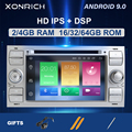 Ips DSP 2 din Android 9 автомобильный Радио мультимедиа для Ford Focus 2 3 mk2 Mondeo 4 Kuga Fiesta Transit подключения S-MAXC-MAX 8 Core4G 64G