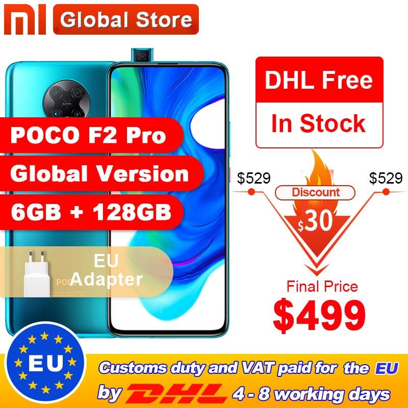 "Global Version Xiaomi POCO F2 Pro 6GB 128GB Qualcomm Snapdragon 865 64MP Quad Rear Camera Smartphone 6.67"" 20MP Pop up Front|Cellphones|   - AliExpress"