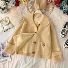 NiceMix Harajuku Corduroy College Wind Jackets Women Winter Autumn Coats Plus Size Overcoats Female Big Tops Jacket Solid Color(China)