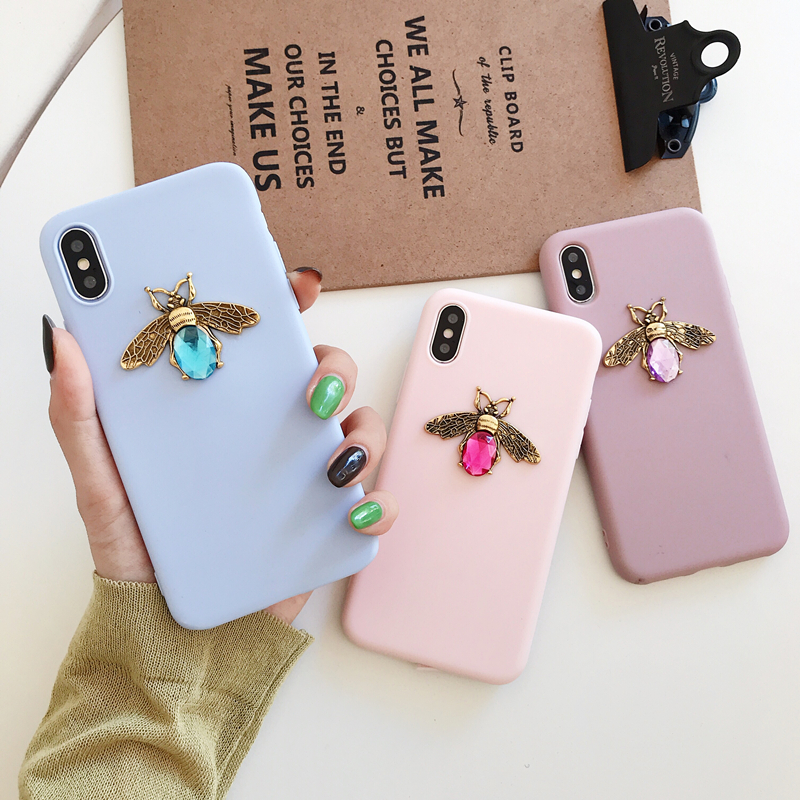 Luxury brand Diamond Bee Glitte soft case for iphone 7 8 6S plus X XR XS