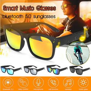 3in1 bluetooth 5.0 esportes inteligentes fone de ouvido óculos de sol sem fio estéreo áudio ipx7 fone alto falantes com microfone