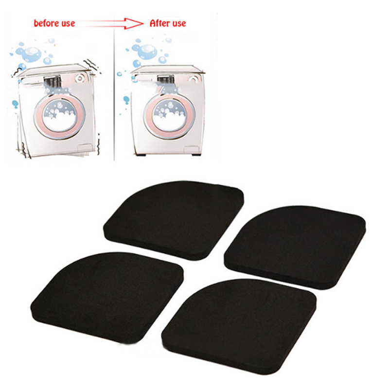 4pcs/set 77*77*7mm Anti-vibration Pad Washer Shock Slip Mats Reducing Refrigerator Anti-vibration Noise Pad