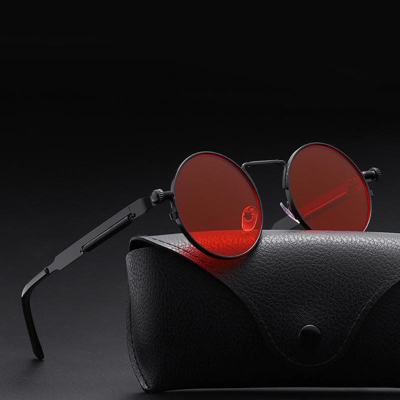 2020 Classic New Punk Sunglasses Women Anti reflective Mirror Round Metal Sun Glasses Vintage Men New Spring Glasses Uv400