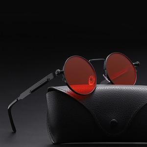 2020 Classic New Punk Sunglasses Women Anti-reflective Mirror Round Metal Sun Glasses Vintage Men New Spring Glasses Uv400