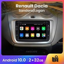 AWESAFE PX9 para Renault Dacia/Sandero/Logan 2 auto Radio Multimedia reproductor de video GPS No 2din 2 din Android 9,0 2GB + 32GB
