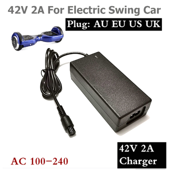 42V 2A Universal Battery Charger for Hoverboard Smart Balance Wheel 36v electric power scooter Adapter Charger EU/US/AU/UK Plug 3 7v 1500mah battery with battery charger eu plug power adapter set for htc desire z