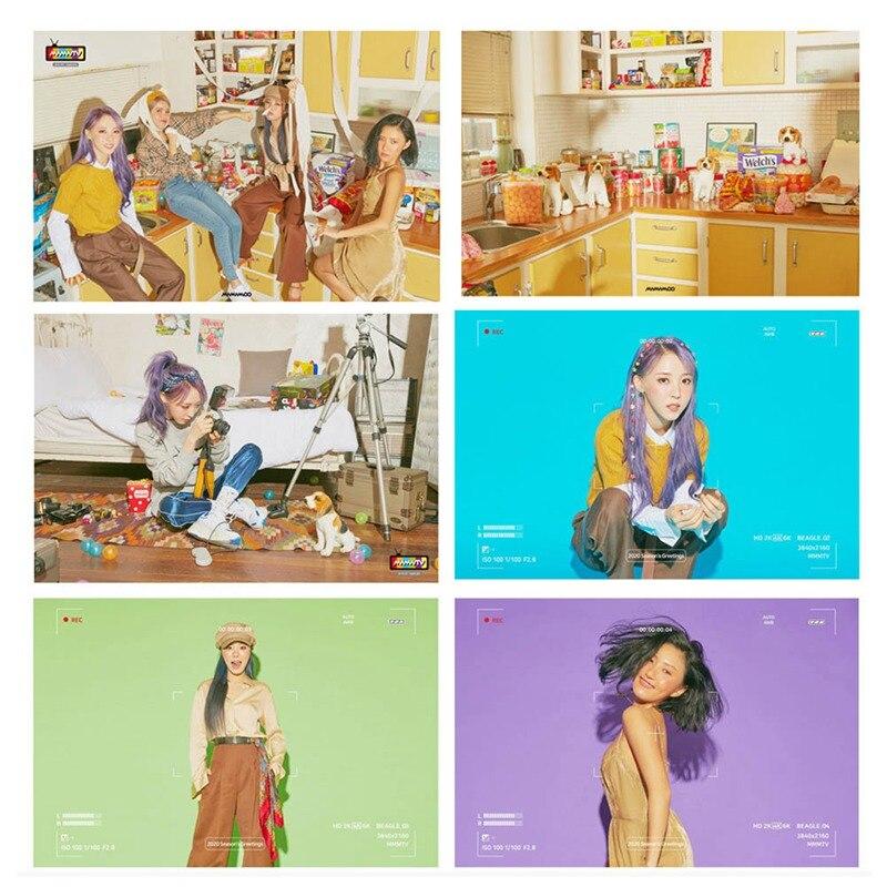 14Pcs/Set MAMAMOO Album 2020 Season Greeting Paper Lomo Card Photo Card Poster Photocard Fans Gift Collection