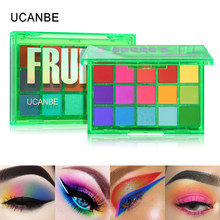 Ucanbe Zoete Partij Oogschaduw Pallete Neon Make-Up Palet 15 Shimmer Glitter Matte Tinten Matellic Naakt Blendable Pigment Poeder